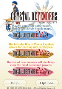 Three Levels of play for Final Fantasy Crystal Defenders for the Itouch / IPhone