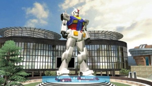 Giant Gundam Statue In Playstation Home